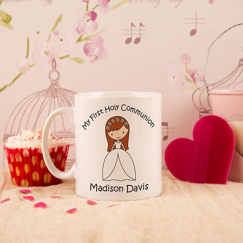 First Holy Communion Mug: Girl Design