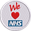 Thumbnail: Keyworker female Polo (WE HEART NHS BADGE STYLE)