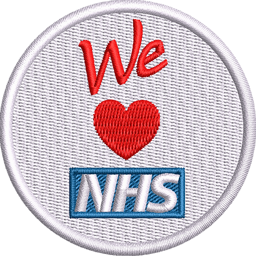 Keyworker female Polo (WE HEART NHS BADGE STYLE)