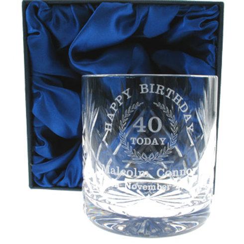 40th Birthday Whisky Glass