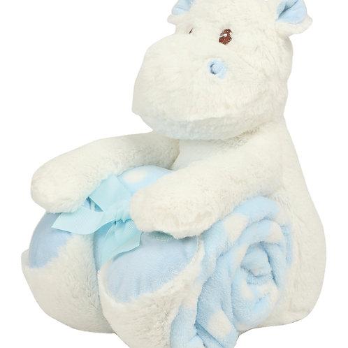 Mumbles Hippo and fleece