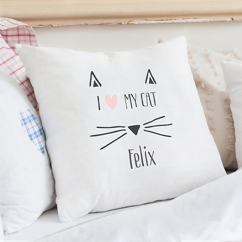 Personalised Cat Features Cushion Cover (PMC)