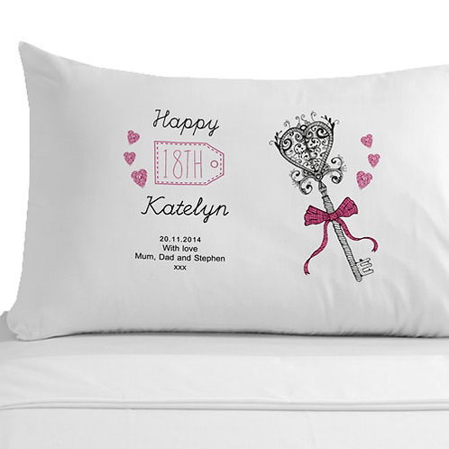 18th Birthday Key Pillowcase