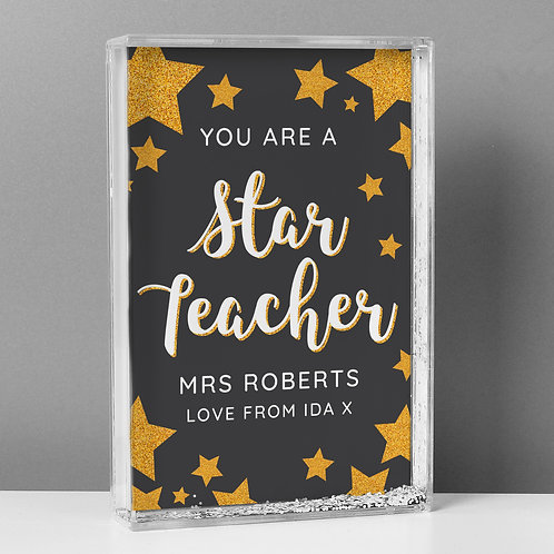 Personalised You Are A Star Teacher Glitter Shaker (PMC)