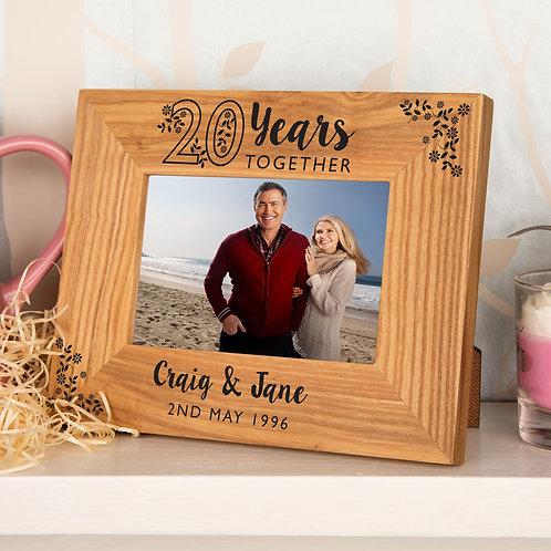 Oak Customised 20th Anniversary Frame