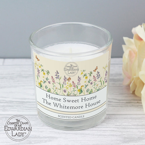 Personalised Country Diary Wild Flowers Scented Jar Candle (PMC)