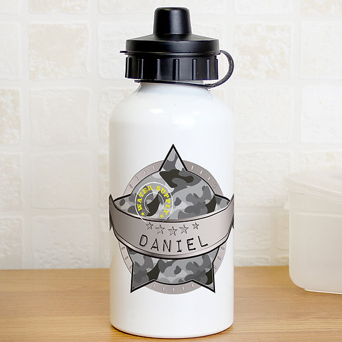 Personalised Army Camo Drinks Bottle (PMC)