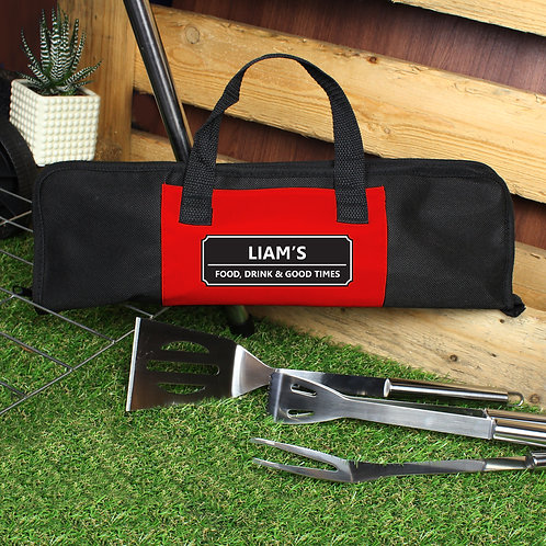 Personalised Classic Stainless Steel BBQ Kit (PMC)