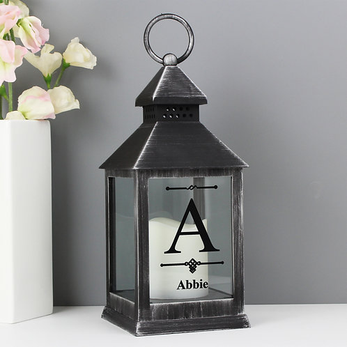 Personalised Initial Rustic Black Lantern (PMC)