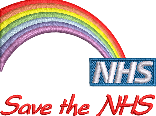 Keyworker female Polo (RAINBOW NHS WITH SAVE THE NHS UNDERNEATH)