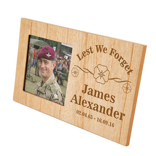 Lest We Forget Memorial Photo Frame