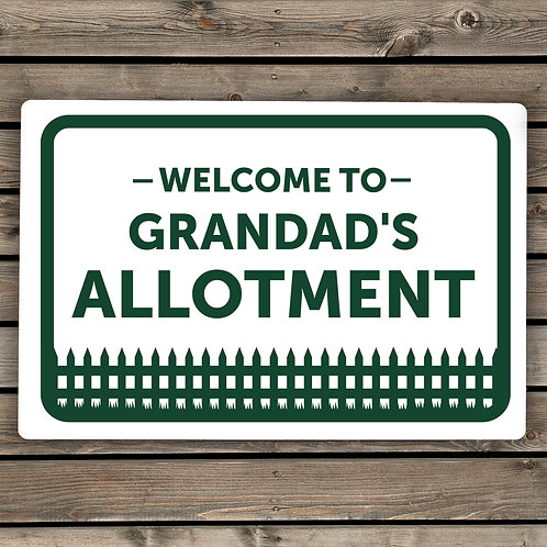 Personalised Welcome To Sign (PMC)