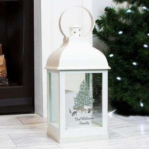 Personalised A Winter's Night White Lantern (PMC)