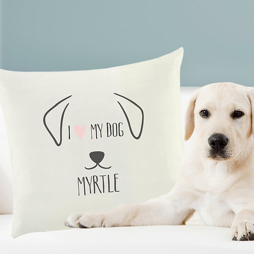 Personalised Dog Features Cushion Cover (PMC)
