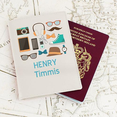 Personalised Male Essentials Cream Passport Holder (PMC)