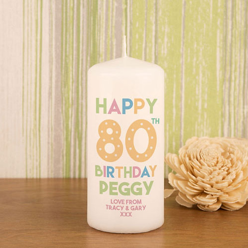 80th Birthday Candle
