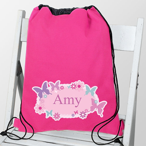 Personalised Butterfly Swim & Kit Bag (PMC)