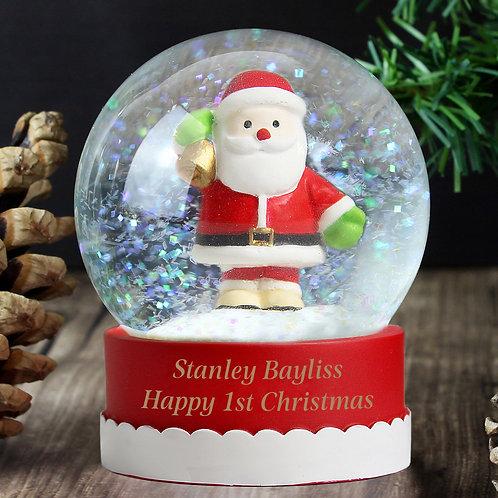 Personalised Santa Snow Globe (PMC)