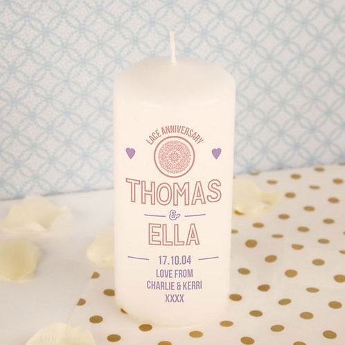 Lace Anniversary Candle