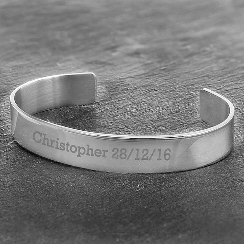 Personalised Stainless Steel Bangle (PMC)