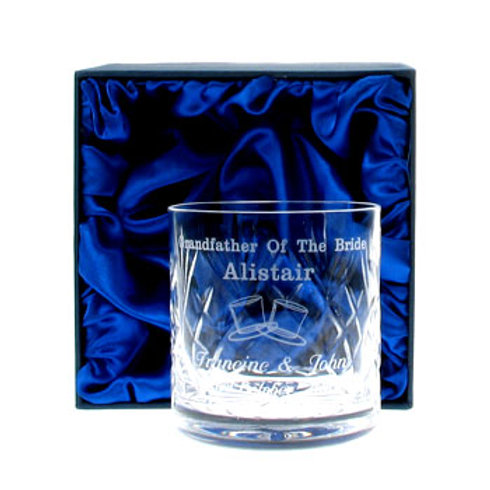 Grandfather of the Bride Whisky Glass