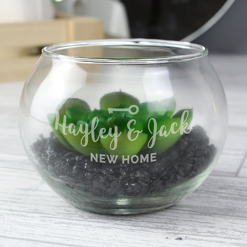 Personalised New Home Glass Terrarium (PMC)