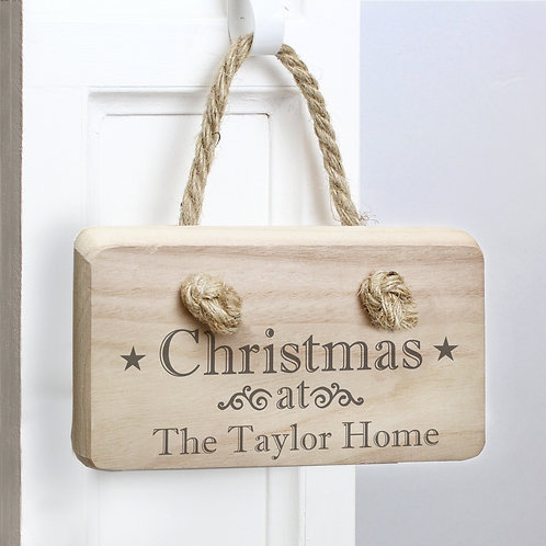 Personalised Christmas Wooden Sign (PMC)