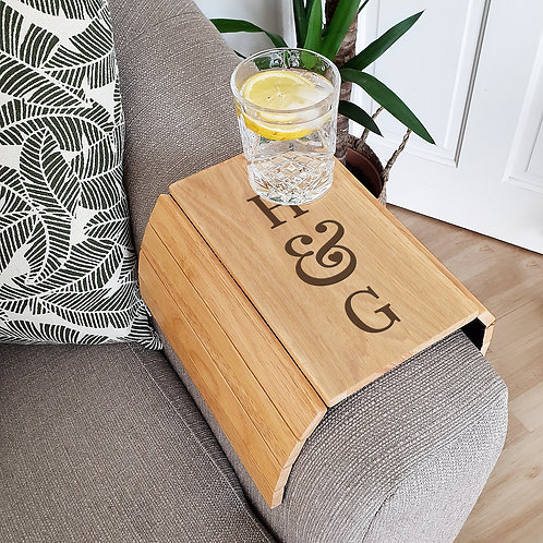 Personalised Initials Wooden Sofa Tray (PMC)