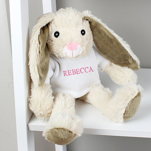 Personalised Name Only Bunny Rabbit - Pink Embroidery (PMC)