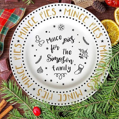 Mince Pie Recipe 10? Rimmed Plate