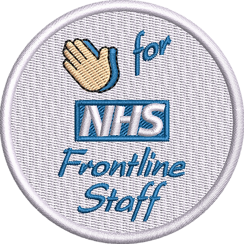 Keyworker Female Polo (CLAP (HANDS) FOR NHS FRONTLINE STAFF BADGE STYLE)