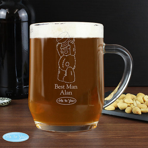 Personalised Me To You Engraved Male Wedding Tankard (PMC)