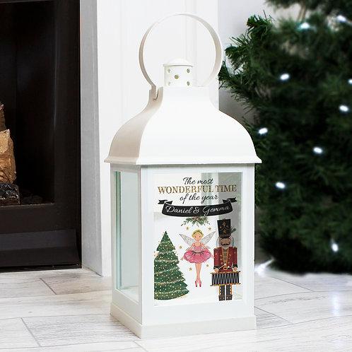 Personalised Nutcracker White Lantern (PMC)