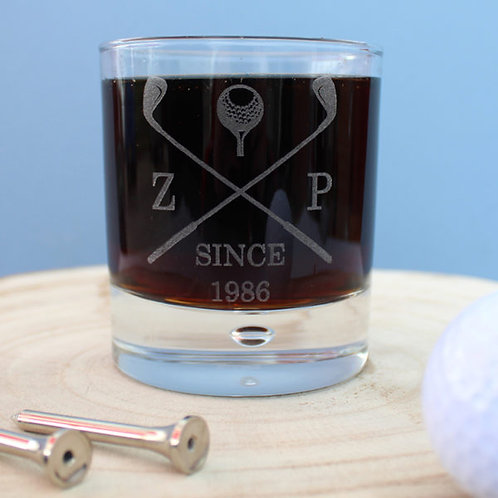 Golf club whiskey glass