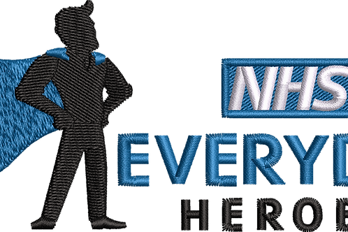 Keyworker Male Polo (SUPER HERO BLUE CAPE NEXT TO NHS EVERY DAY HEROES)