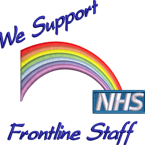 Keyworker Male Polo (WE SUPPORT FRONTLINE STAFF RAINBOW)