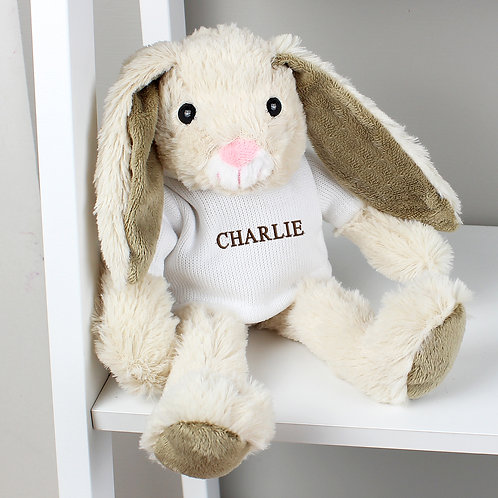 Personalised Name Only Bunny Rabbit - Brown Embroidery (PMC)