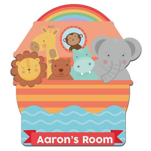 Noah's Ark Bedroom Door Plaque (PTG)