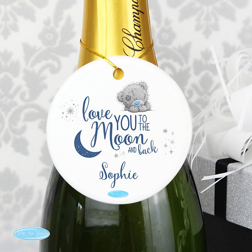 Personalised Me to You 'Love You to the Moon and Back' Round Decoration (PMC)