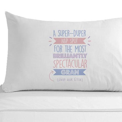 Personalised Super Duper Gran Pillowcase
