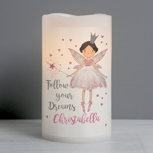 Personalised Fairy Princess Nightlight LED  Candle (PMC)