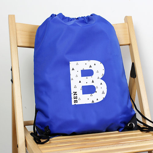 Personalised Initial Blue Kit Bag (PMC)