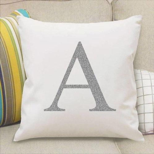 Monogram Initial Cushion