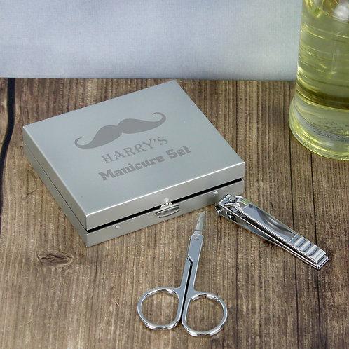 Personalised Moustache Manicure Set (PMC)