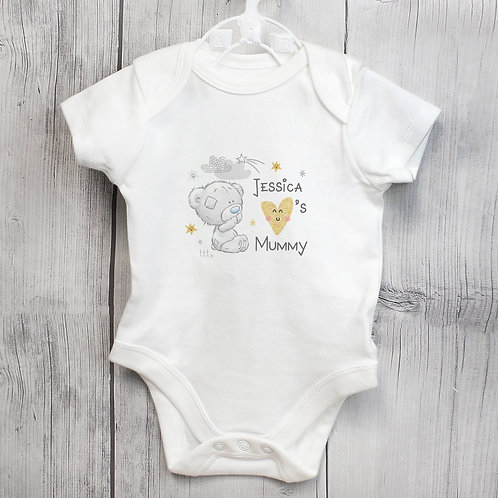 Personalised Tiny Tatty Teddy I Heart 0-3 Months Baby Vest (PMC)