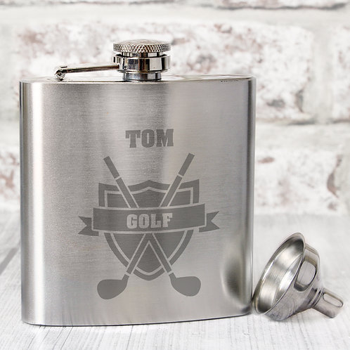 Personalised Golf Hip Flask (PMC)
