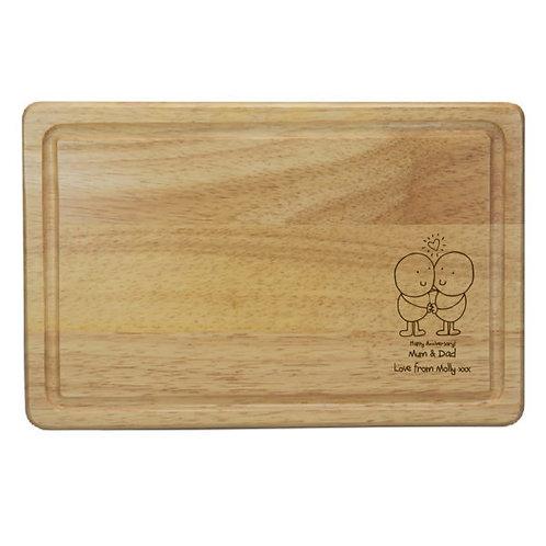 Chilli & Bubbles Anniversary Rectangle Chopping Board