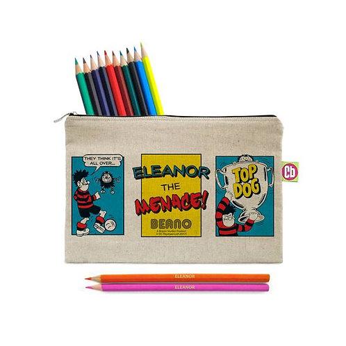 Beano Classic Top Dog Pencil Case & Pencils