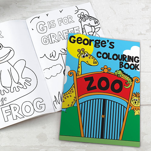 Personalised Zoo Colouring Book (PMC)