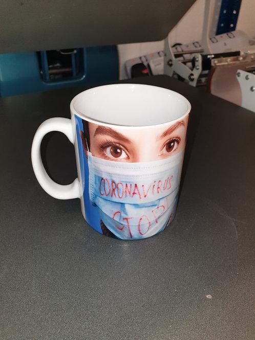 Corona virus support local mug